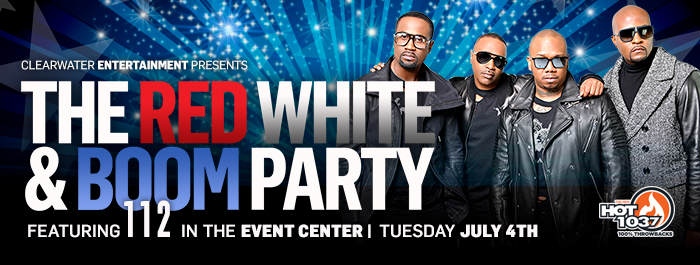 Red, White & Boom 4th of July Celebration featuring 112 at Clearwater Casino Resort